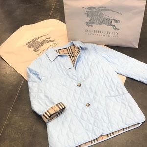 Burberry blue quilted Like new never worn